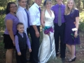 Skyler at Sisters wedding to her right